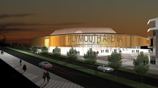 Artists impression of Plymouth Arena