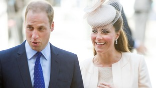Prince William with his wife Kate