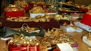 Watches, necklaces and ear-rings are among the stash
