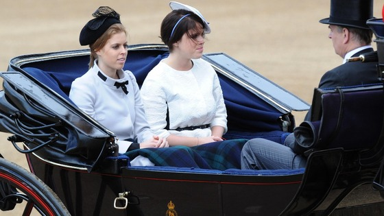 Princess Beatrice, Princess Eugenie and Duke of York.