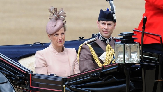 The Earl and Countess of Wessex arrive at Horse Guards Parade.