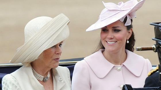 The Duchess of Cornwall and the Duchess of Cambridge.