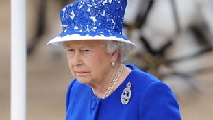 Queen Elizabeth II at Horse Guards Parade, London, during Trooping the Colour.