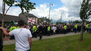 200 EDL supporters march in Ashton-Under-Lyne