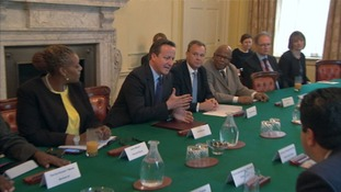 David Cameron in the Cabinet Room.