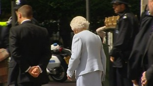 The Queen leaving the London Clinic
