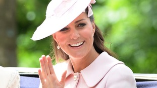 Pregnant Kate attends Queen's Trooping the Colour Parade before royal birth
