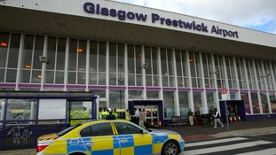 Prestwick airport in Glasgow