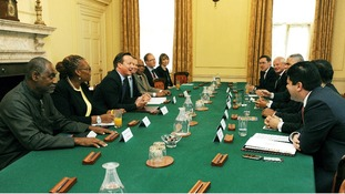 David Cameron hosts a meeting with the Heads of the Overseas Territories and the Chief Ministers of the Crown Dependencies