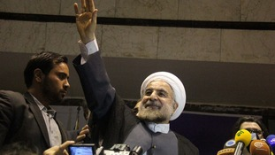Moderate cleric Hassan Rouhani has been named Iran's new president.