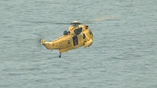 An RAF Sea King has assisted in the search.