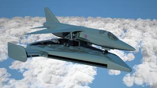 The fighter jet take-off platform.