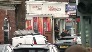 The supermarket where it is believed negotiations with the knifeman are under way