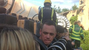 People stuck on the Rameses Revenge ride at Chessington World of Adventures