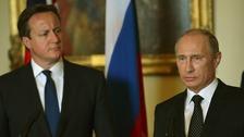 Prime Minister David Cameron and Russian President Vladimir Putin
