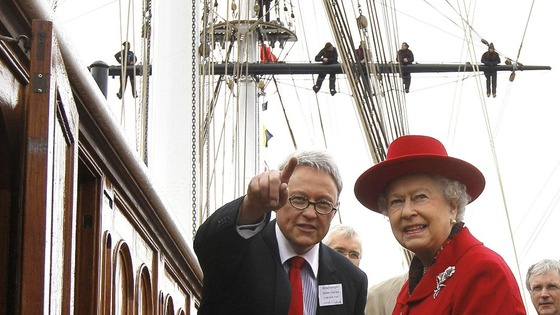 The Queen visits Greenwich