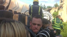 Visitors stranded for three hours on theme park ride