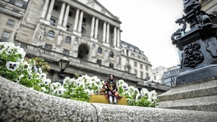 Sir John Houblon was positioned outside the Bank of England