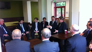 Conservative MPs and AMs meet business leaders at Magor services