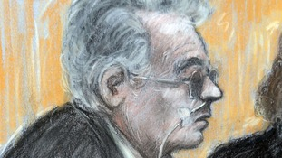 Court sketch of Ian Brady at the tribunal.