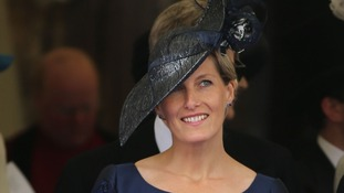 The Countess of Wessex wears navy