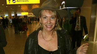 Nadine Dorries arrives back at Heathrow after her appearance on I'm a Celebrity...!