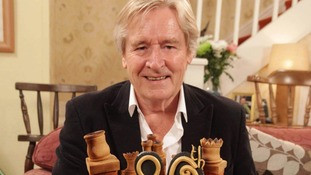 William Roache presented with a birthday cake for his 80th birthday