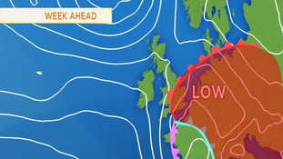 Jet Stream brings wet weather and warm air