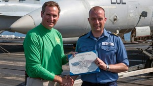 Sailor receiving qualification