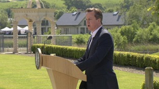 David Cameron at the closing press conference at the G8 summit in Fermanagh