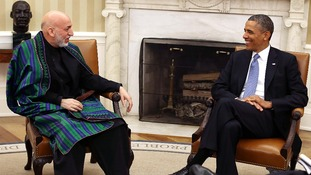 Afghan President Hamid Karzai visited US President Barack Obama in January.