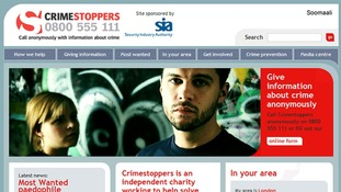 Crimestoppers website