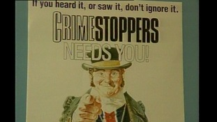 A Crimestoppers poster