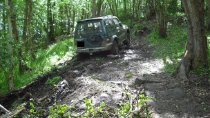 Abandoned 4x4 on public bridleway near Glaisdale.