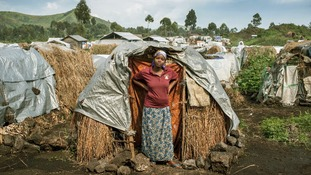 Rachel in Bulengo displacement camp, North Kivu, Eastern Congo.