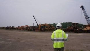 Inspecting an illegal site in North Bedfordshire