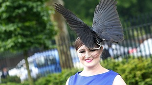 Racegoer Polly Pearce from Hampshire during Ladies' Day at Royal Ascot