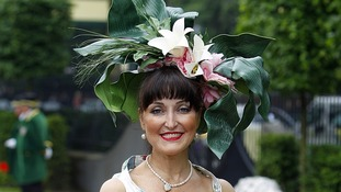 A female racegoer at Ladies' Day of the Royal Ascot meeting