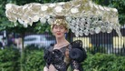 Flamboyant hats on show at Ladies' Day at Royal Ascot