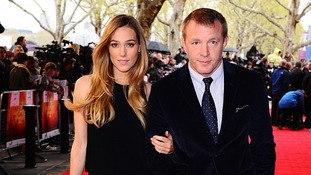 Guy Ritchie and Jacqui Ainsley arrive at the film screening.