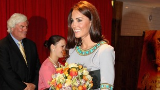 The Duchess of Cambridge arriving at the African Cats UK film premiere.