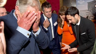 Magician Dynamo impresses Royal and celebrity guests at the Prince's Trust reception in Clarence House.