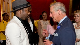 Will.i.am with the Prince of Wales at the reception today.