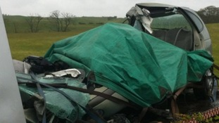 Car after the crash