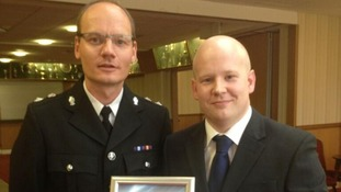 PC Adam Koch with bravery award