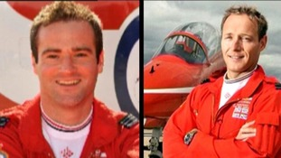 Flt Lt Jon Egging and Flt Lt Sean Cunningham who both died in separate accidents last year.