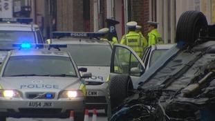 Ber Street, Norwich - police at the scene