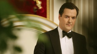 Chancellor George Osborne pictured addressing guests during his Mansion House speech.