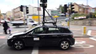 File photo of a Google Street View car driving around Bristol.