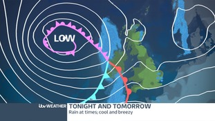 Low Pressure moving in from the Atlantic.